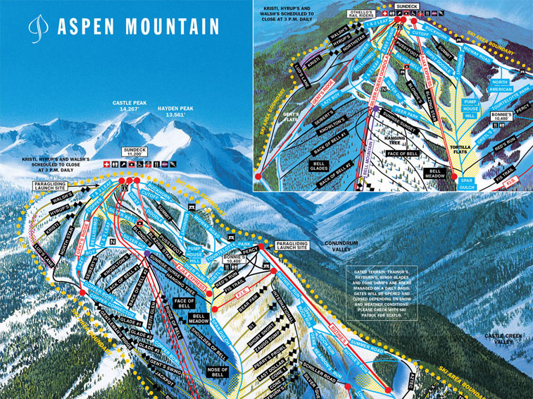 Snowmass Co Trail Map Webcams Ski Vacation Packages